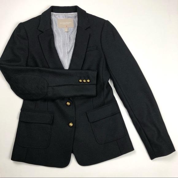 Jackets & Blazers - Bannana Republic size 4 Black Wool Blazer